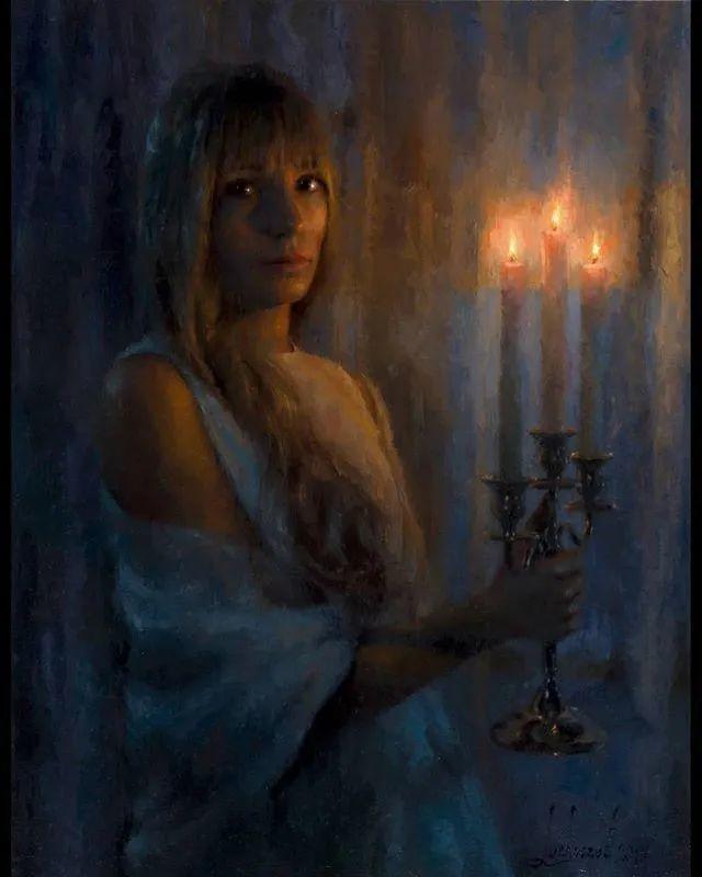 眼前一亮,模特与画像同框!波兰画家达米安·莱科斯特插图33
