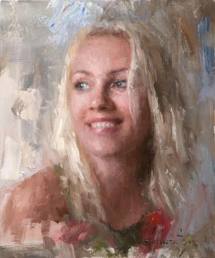 眼前一亮,模特与画像同框!波兰画家达米安·莱科斯特插图41