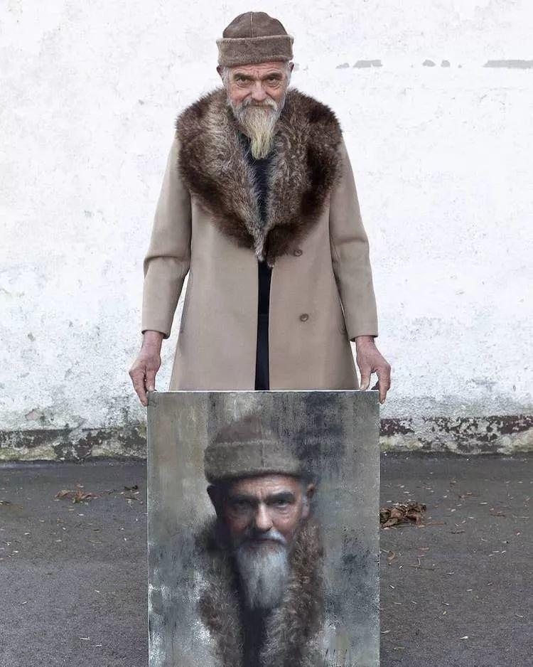 眼前一亮,模特与画像同框!波兰画家达米安·莱科斯特插图47