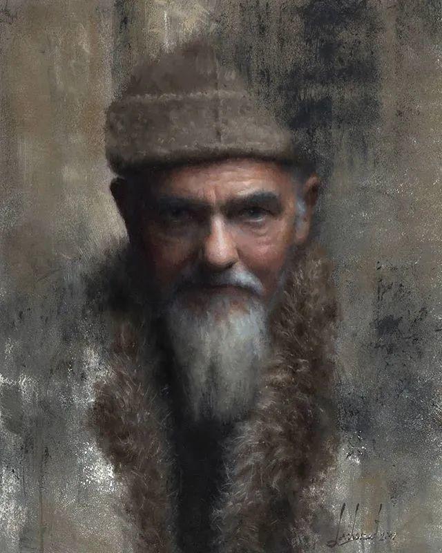 眼前一亮,模特与画像同框!波兰画家达米安·莱科斯特插图49