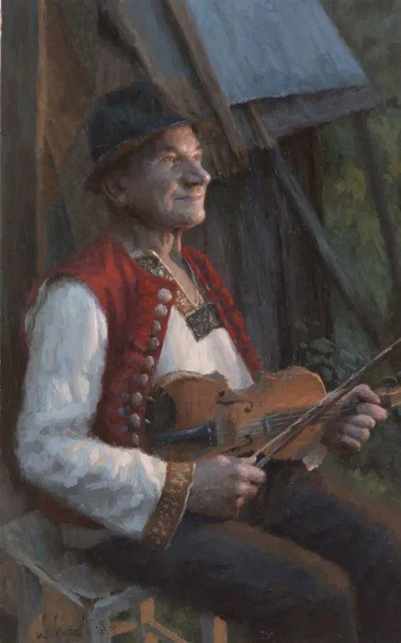 眼前一亮,模特与画像同框!波兰画家达米安·莱科斯特插图65