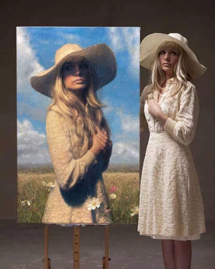 眼前一亮,模特与画像同框!波兰画家达米安·莱科斯特插图67