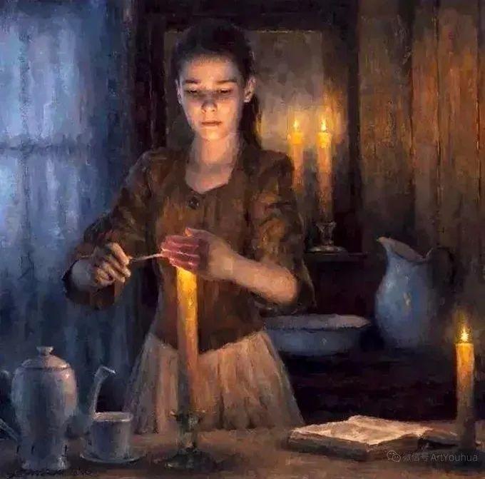 眼前一亮,模特与画像同框!波兰画家达米安·莱科斯特插图73