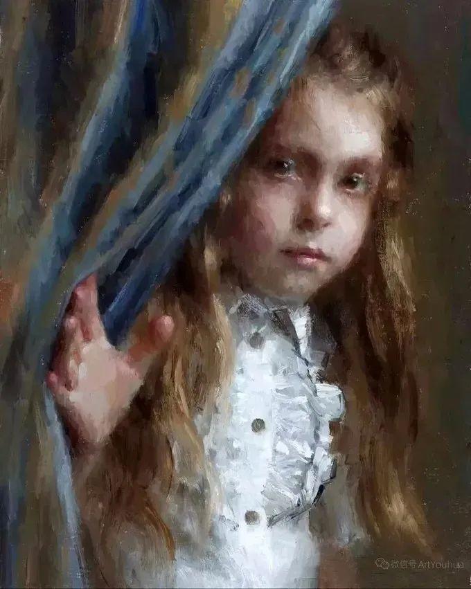 眼前一亮,模特与画像同框!波兰画家达米安·莱科斯特插图79
