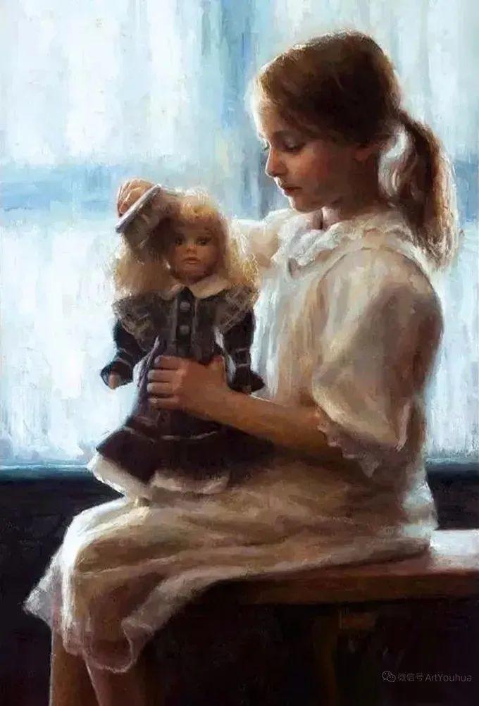 眼前一亮,模特与画像同框!波兰画家达米安·莱科斯特插图99