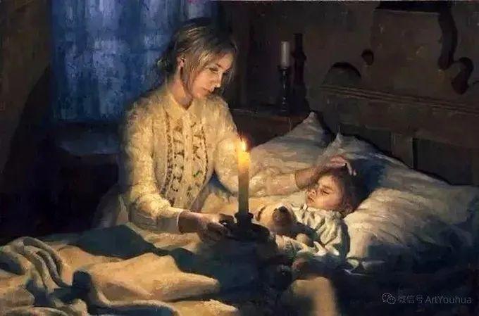 眼前一亮,模特与画像同框!波兰画家达米安·莱科斯特插图101