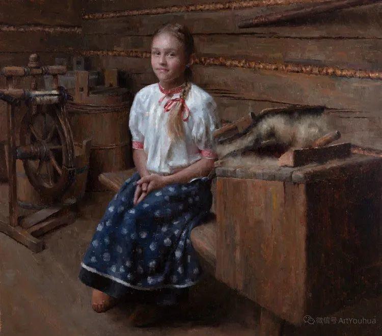 眼前一亮,模特与画像同框!波兰画家达米安·莱科斯特插图105