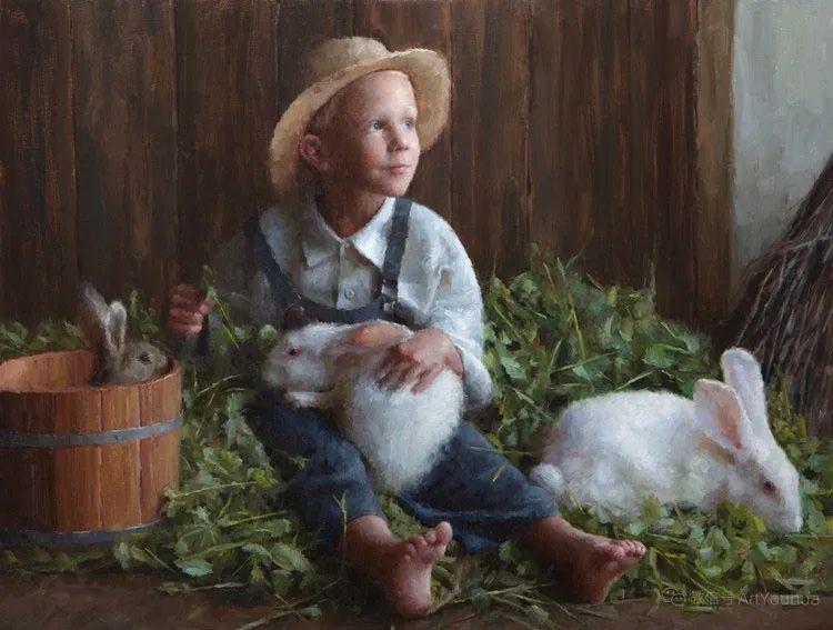 眼前一亮,模特与画像同框!波兰画家达米安·莱科斯特插图113