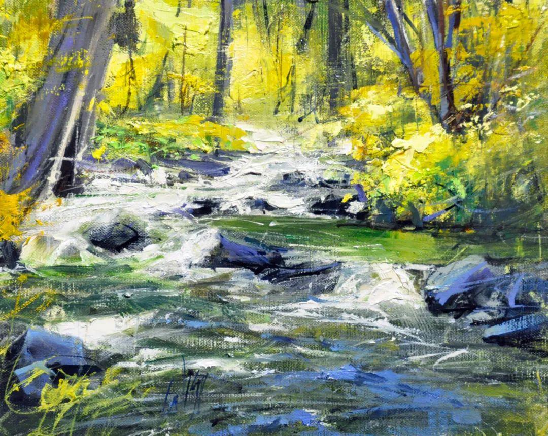 色彩纹理丰富,动感有活力的风景画插图25