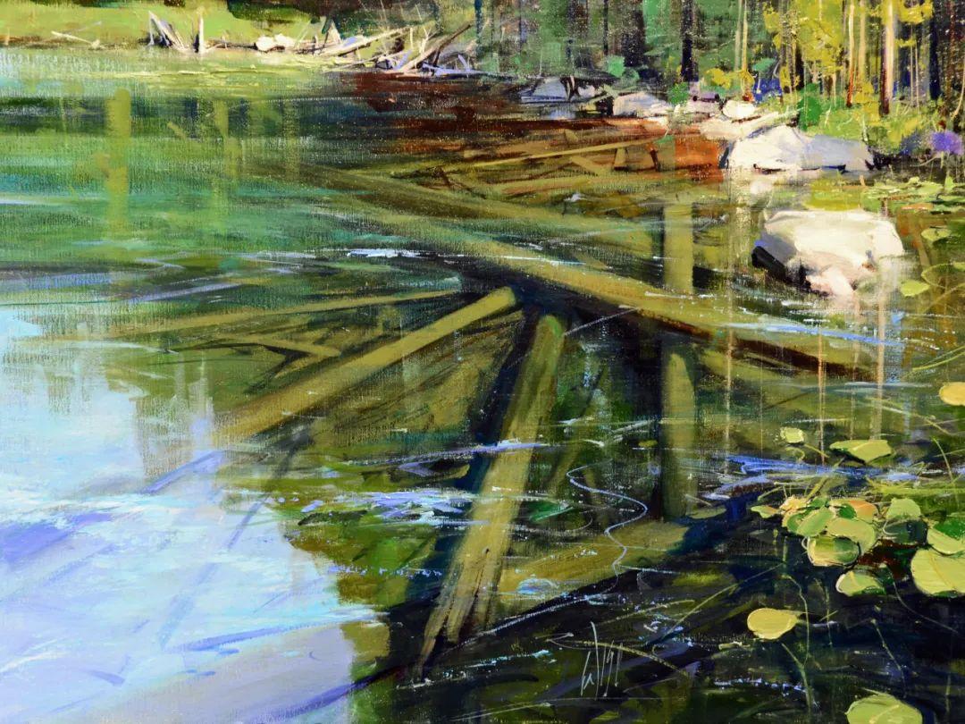 色彩纹理丰富,动感有活力的风景画插图77