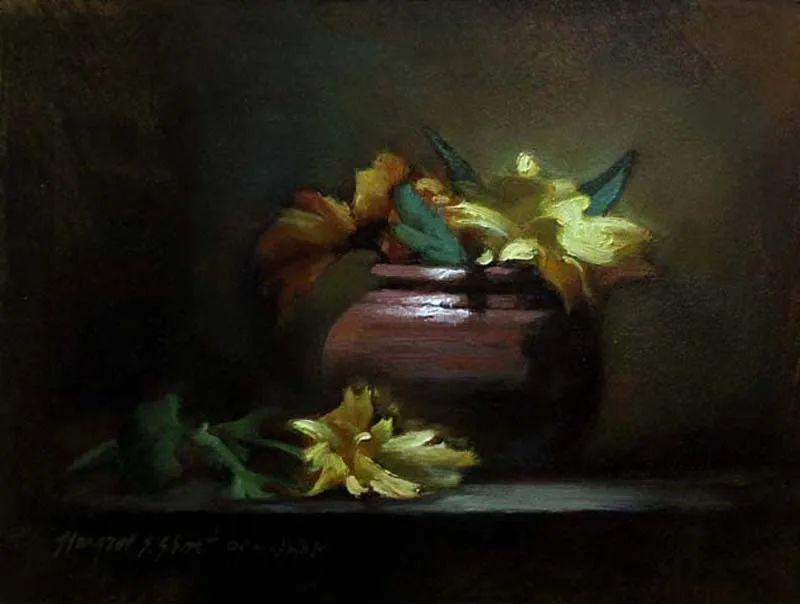 现实静物花卉,强烈的明暗对比!插图43