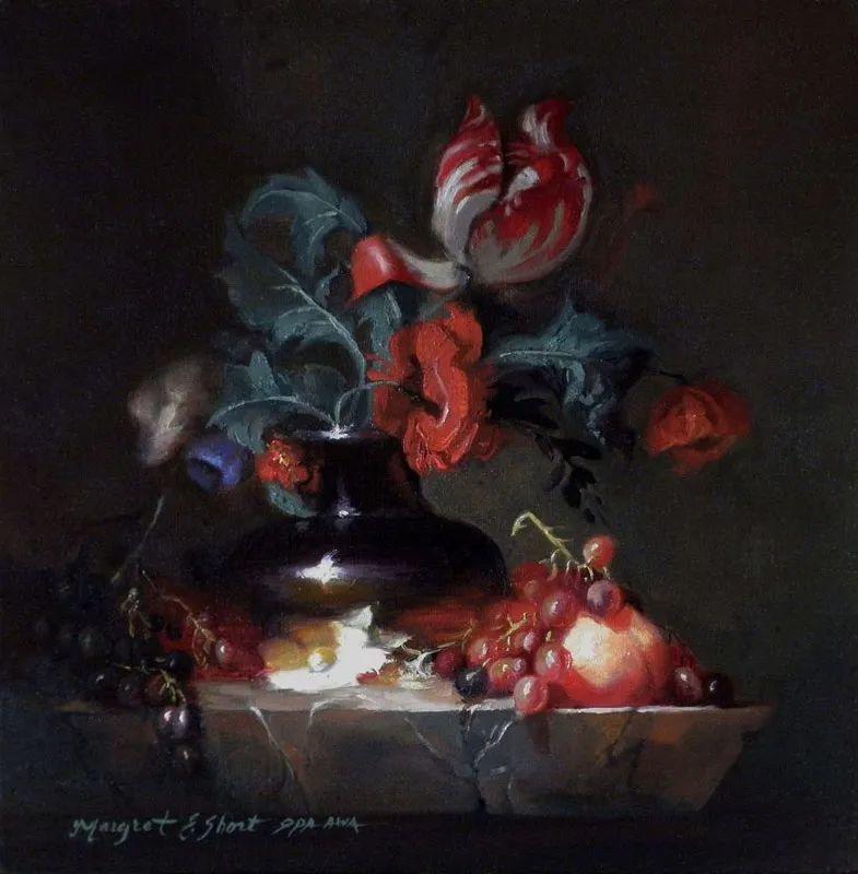 现实静物花卉,强烈的明暗对比!插图45