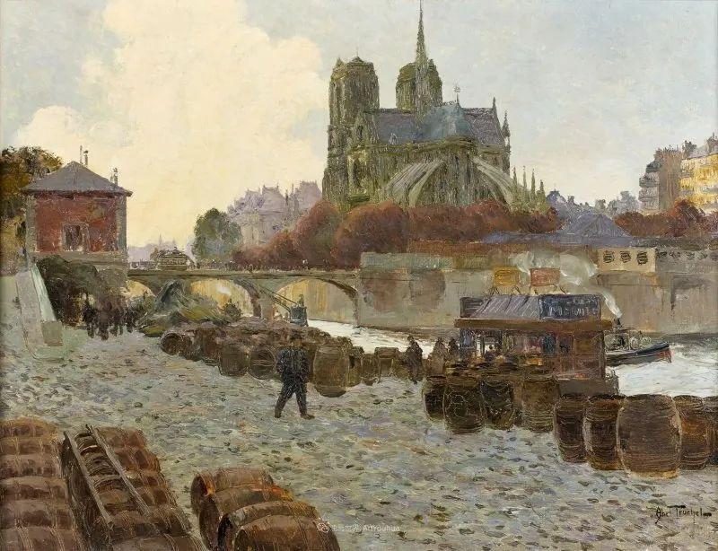 法国后印象派画家笔下的巴黎生活!插图35