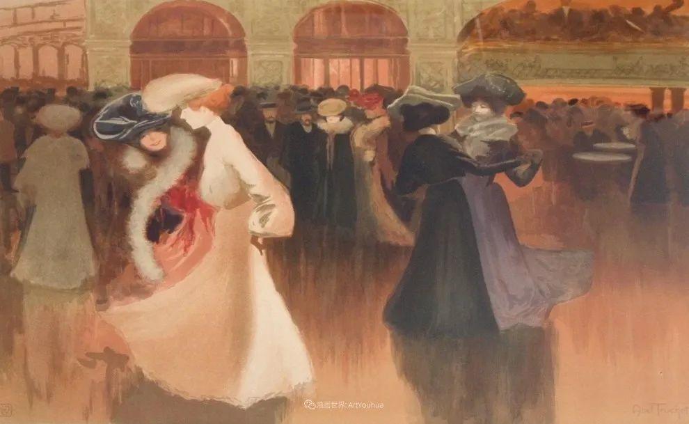 法国后印象派画家笔下的巴黎生活!插图83