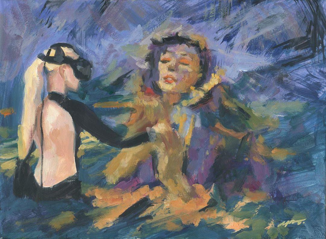 """她在空中随意""""乱画"""",就能震惊卢浮宫,登上TED?这种作画方式也太炫酷了吧!插图25"""