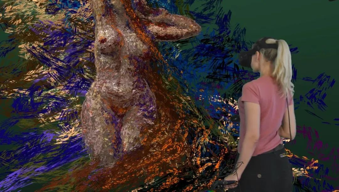 """她在空中随意""""乱画"""",就能震惊卢浮宫,登上TED?这种作画方式也太炫酷了吧!插图35"""