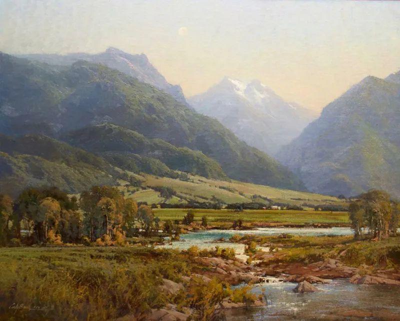 壮丽的山脉和海岸线景色,美国女画家辛迪·拜伦插图3
