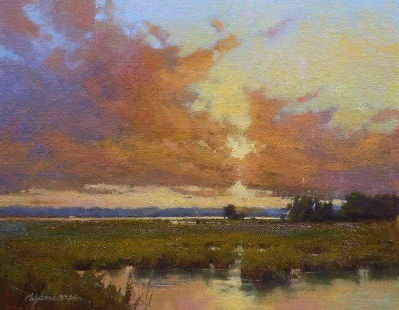 壮丽的山脉和海岸线景色,美国女画家辛迪·拜伦插图5