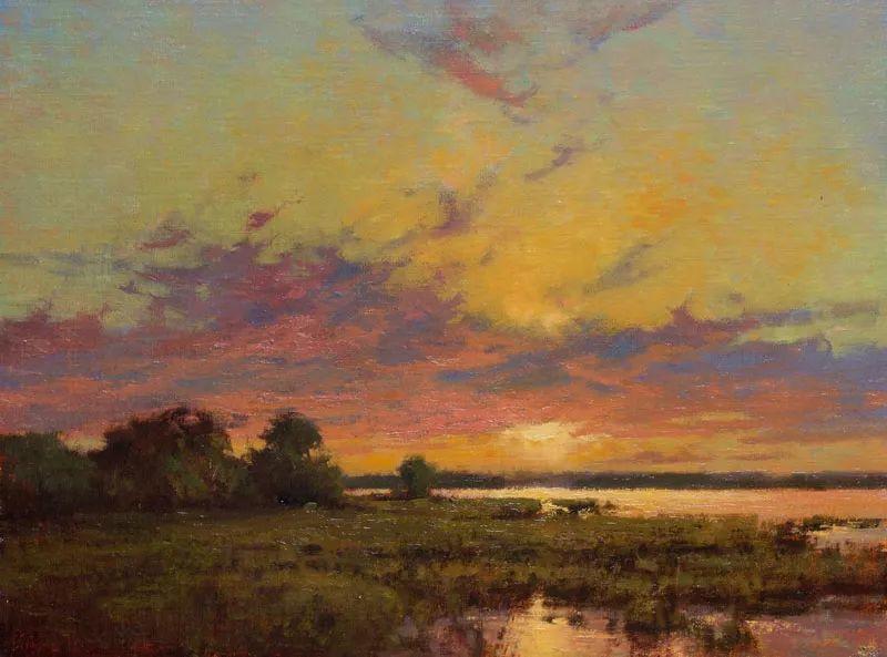 壮丽的山脉和海岸线景色,美国女画家辛迪·拜伦插图7