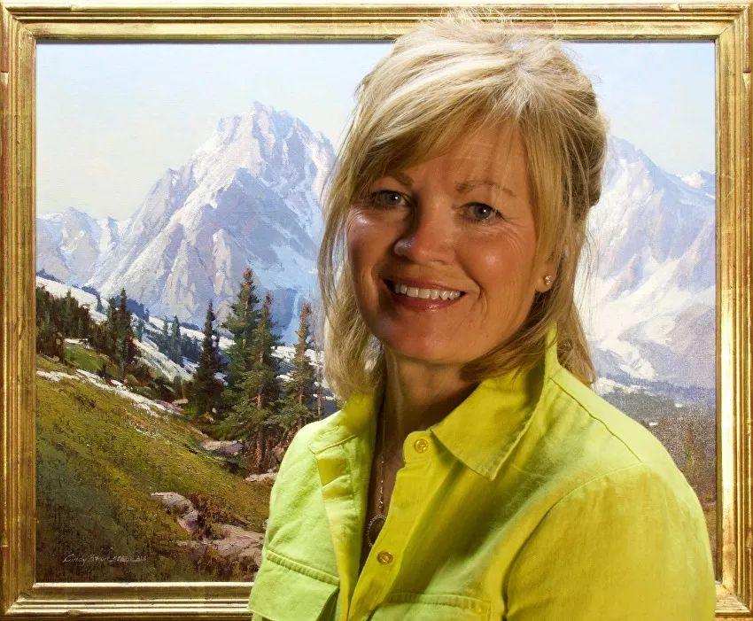 壮丽的山脉和海岸线景色,美国女画家辛迪·拜伦插图9