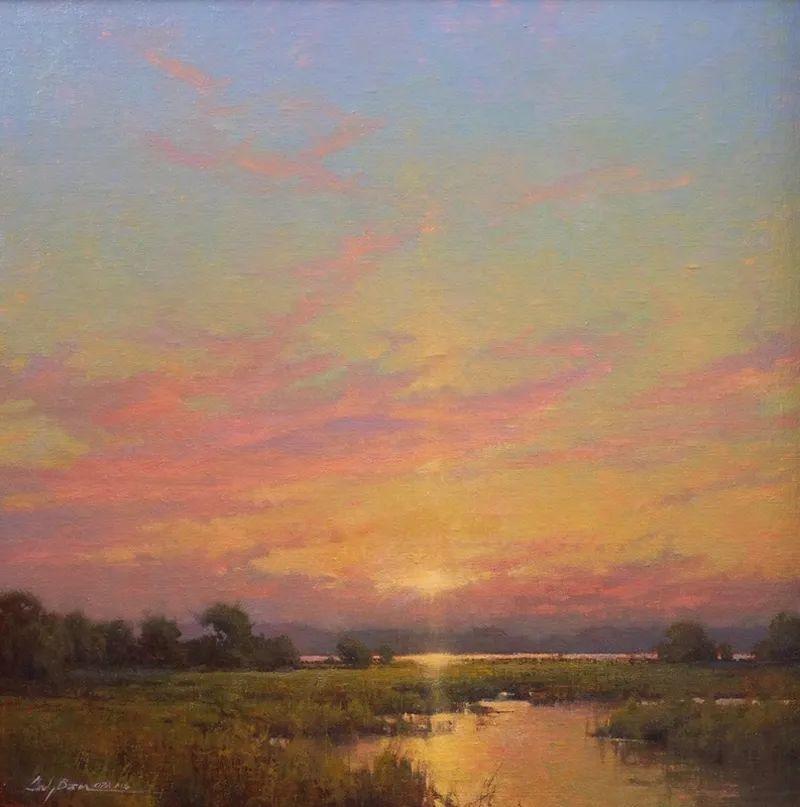 壮丽的山脉和海岸线景色,美国女画家辛迪·拜伦插图11