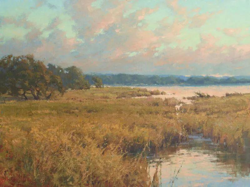壮丽的山脉和海岸线景色,美国女画家辛迪·拜伦插图13