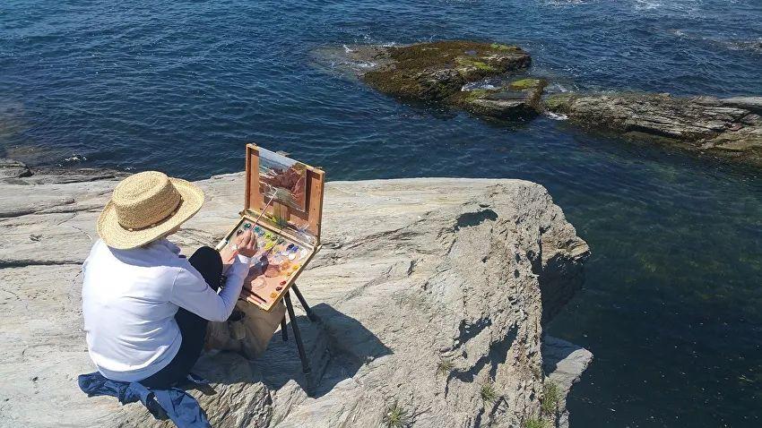 壮丽的山脉和海岸线景色,美国女画家辛迪·拜伦插图15