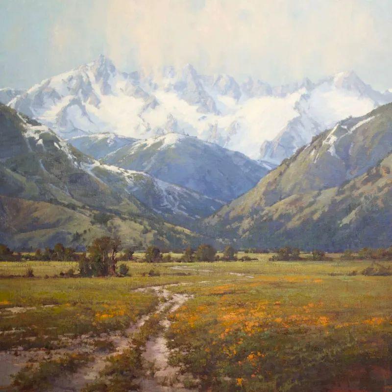 壮丽的山脉和海岸线景色,美国女画家辛迪·拜伦插图17