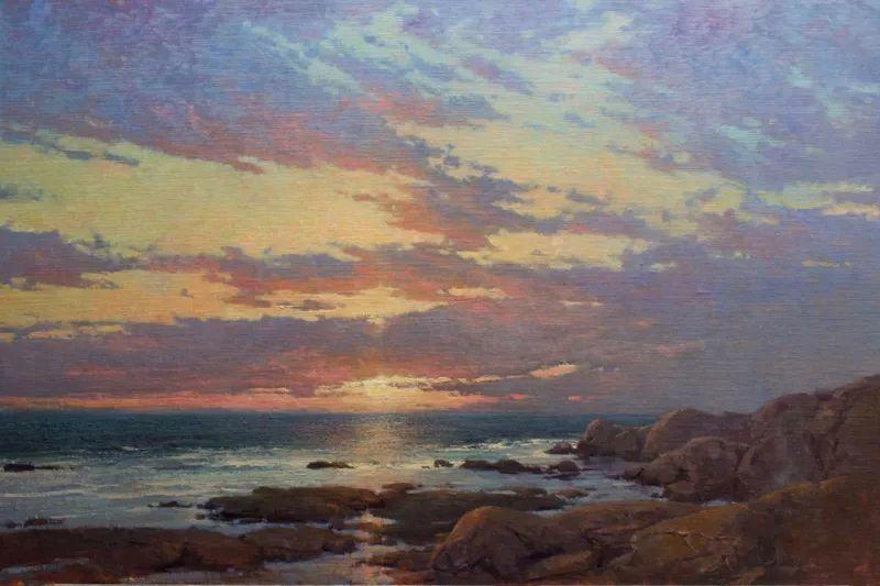 壮丽的山脉和海岸线景色,美国女画家辛迪·拜伦插图21