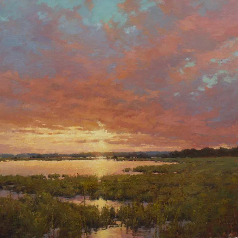 壮丽的山脉和海岸线景色,美国女画家辛迪·拜伦插图23