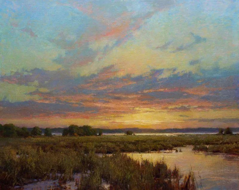 壮丽的山脉和海岸线景色,美国女画家辛迪·拜伦插图25