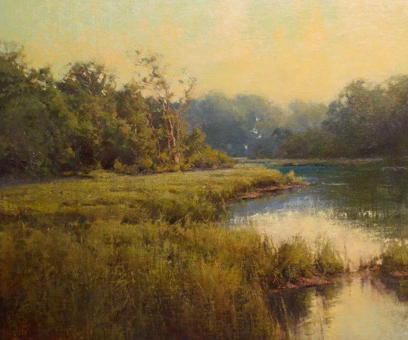 壮丽的山脉和海岸线景色,美国女画家辛迪·拜伦插图27
