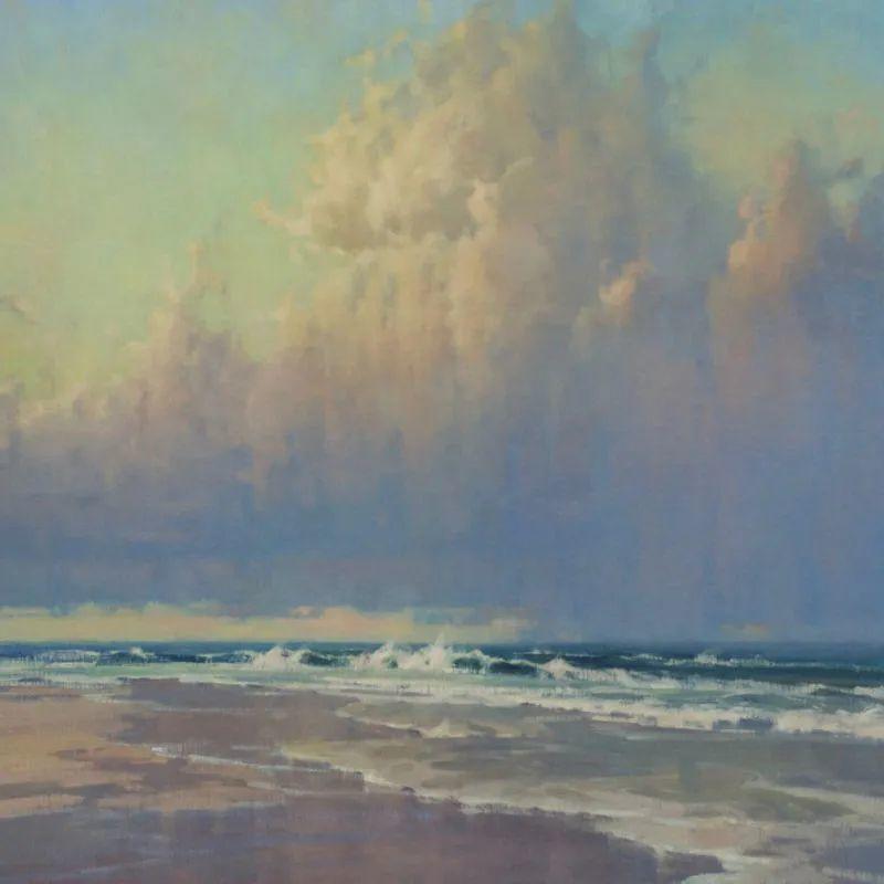 壮丽的山脉和海岸线景色,美国女画家辛迪·拜伦插图29