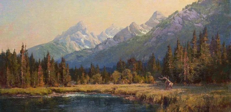 壮丽的山脉和海岸线景色,美国女画家辛迪·拜伦插图31
