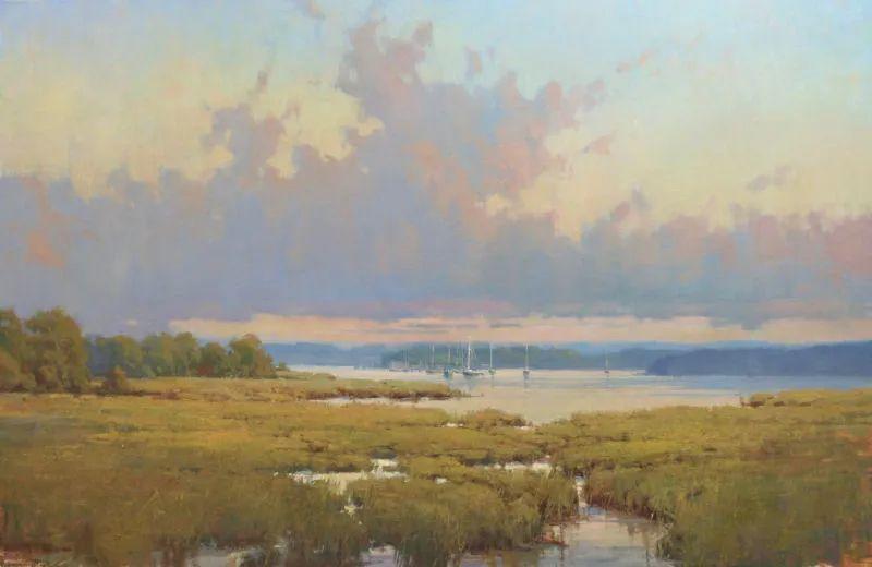 壮丽的山脉和海岸线景色,美国女画家辛迪·拜伦插图33