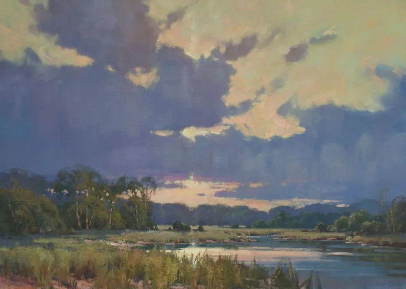 壮丽的山脉和海岸线景色,美国女画家辛迪·拜伦插图35