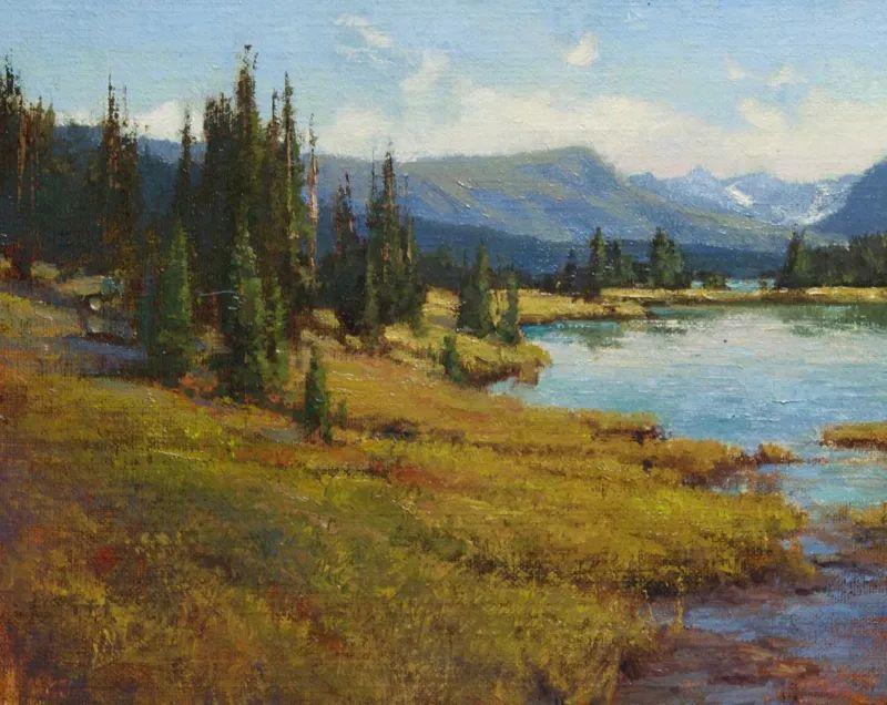 壮丽的山脉和海岸线景色,美国女画家辛迪·拜伦插图39