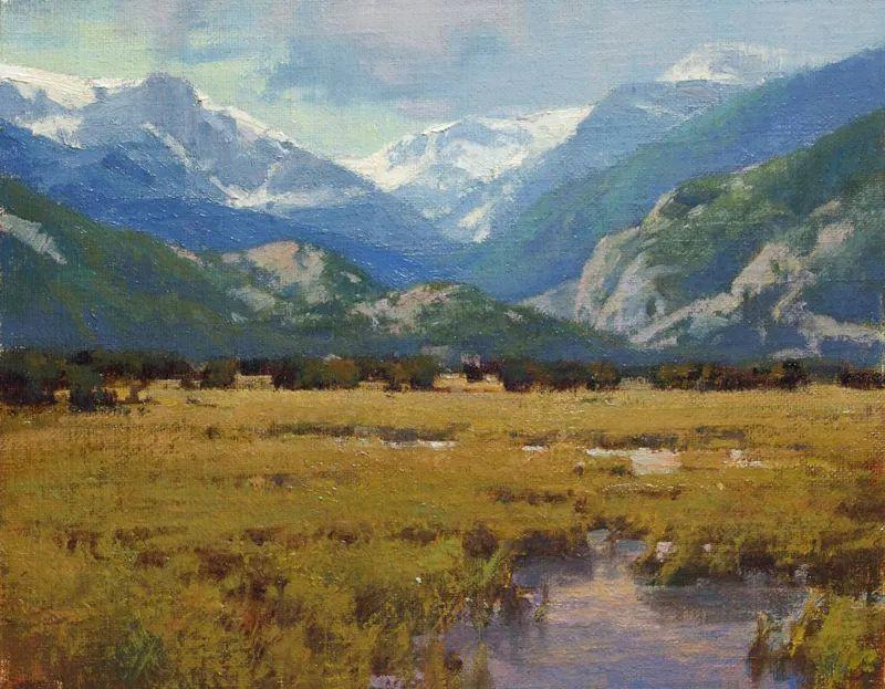 壮丽的山脉和海岸线景色,美国女画家辛迪·拜伦插图43