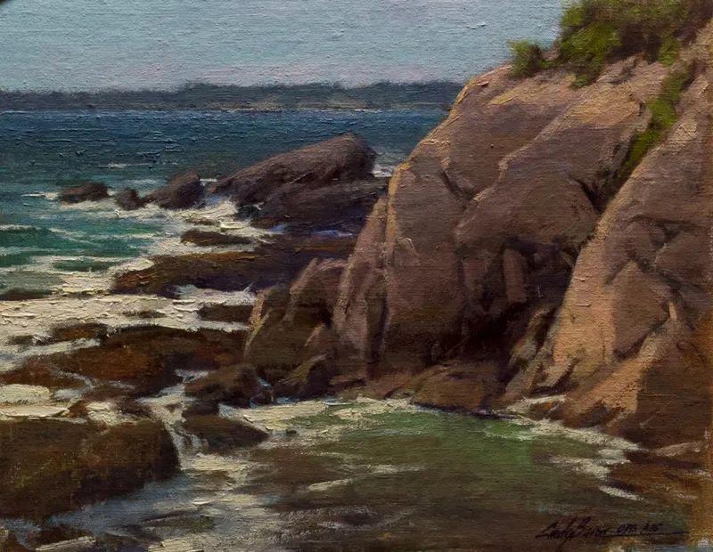 壮丽的山脉和海岸线景色,美国女画家辛迪·拜伦插图47