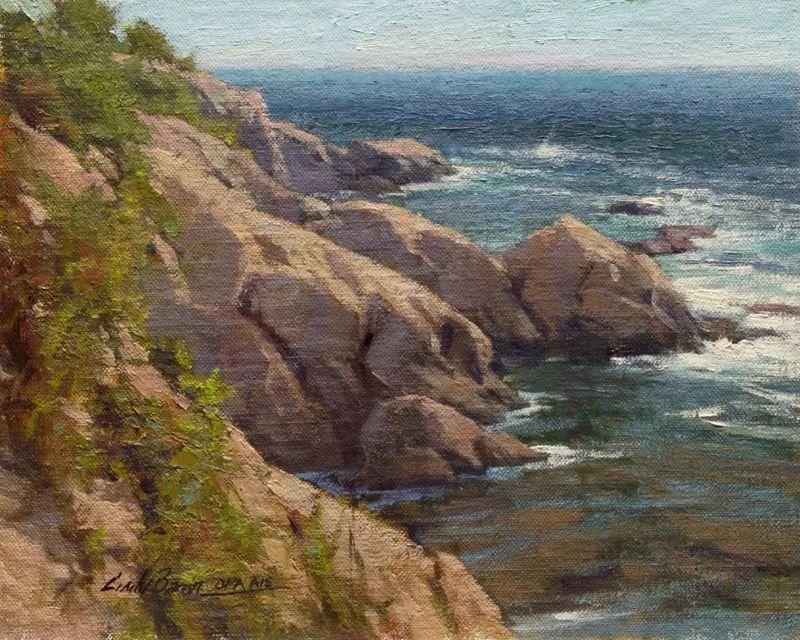 壮丽的山脉和海岸线景色,美国女画家辛迪·拜伦插图49