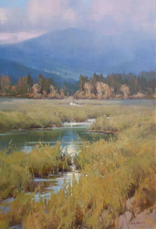 壮丽的山脉和海岸线景色,美国女画家辛迪·拜伦插图51