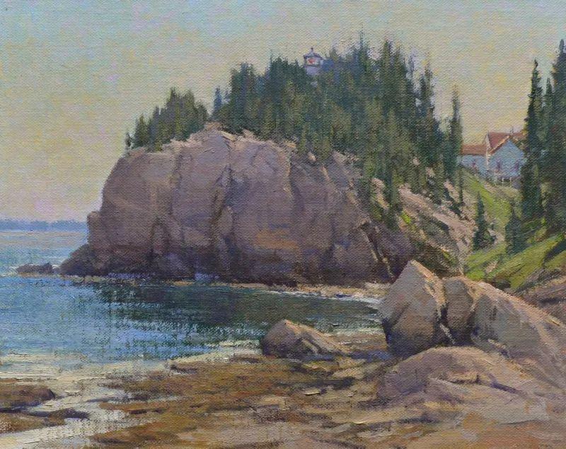 壮丽的山脉和海岸线景色,美国女画家辛迪·拜伦插图55