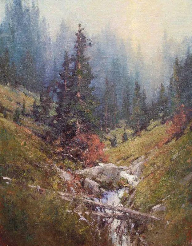 壮丽的山脉和海岸线景色,美国女画家辛迪·拜伦插图57
