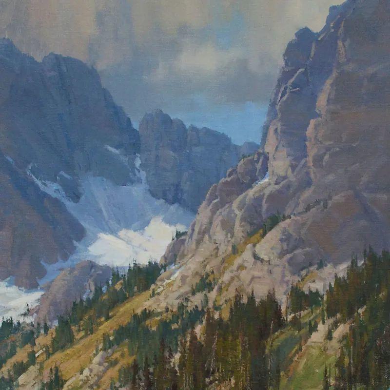 壮丽的山脉和海岸线景色,美国女画家辛迪·拜伦插图61