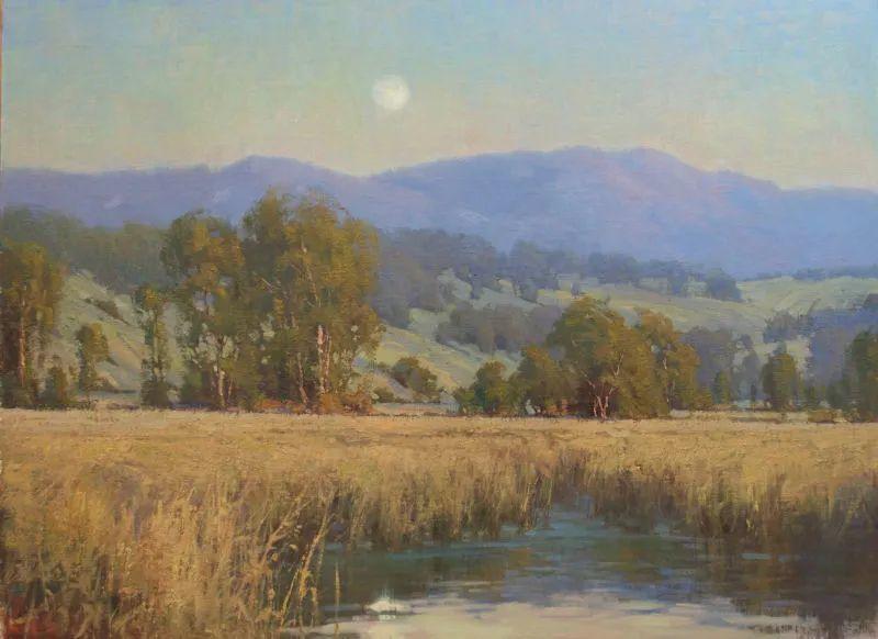 壮丽的山脉和海岸线景色,美国女画家辛迪·拜伦插图63