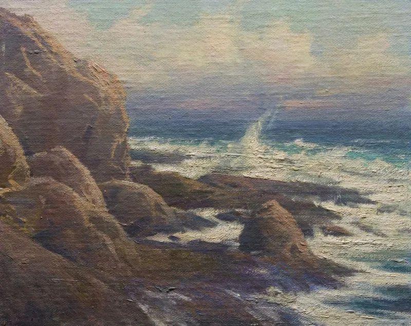 壮丽的山脉和海岸线景色,美国女画家辛迪·拜伦插图65
