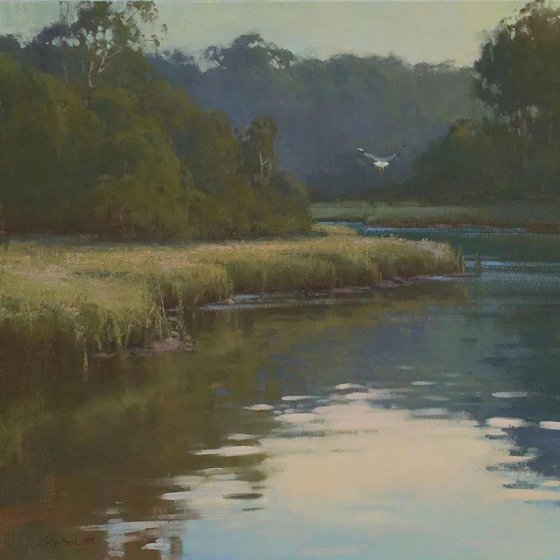 壮丽的山脉和海岸线景色,美国女画家辛迪·拜伦插图67