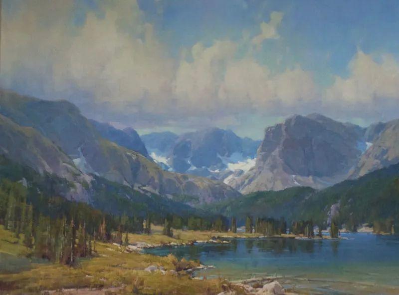 壮丽的山脉和海岸线景色,美国女画家辛迪·拜伦插图69