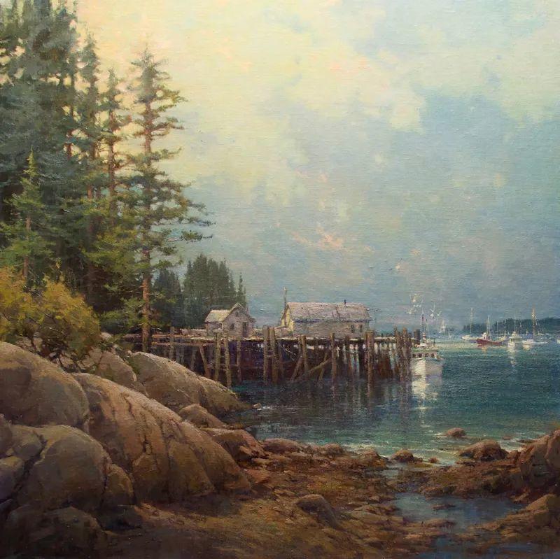 壮丽的山脉和海岸线景色,美国女画家辛迪·拜伦插图73