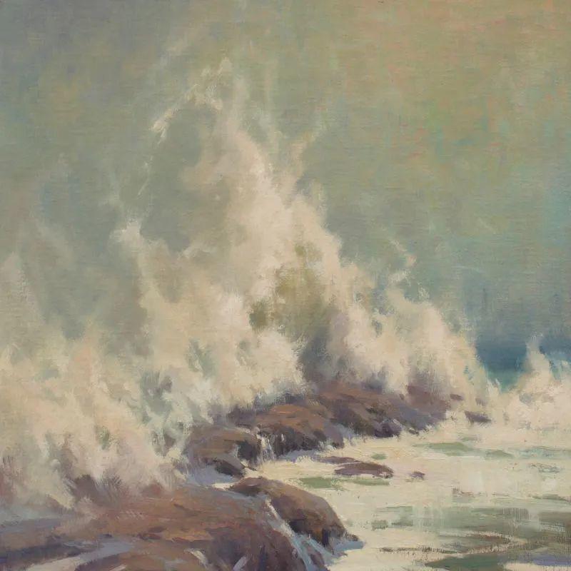 壮丽的山脉和海岸线景色,美国女画家辛迪·拜伦插图77